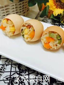 五彩糯米蛋的做法步骤:9