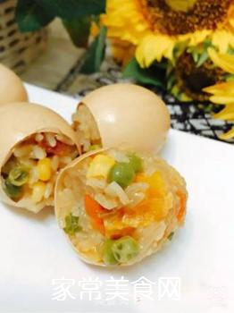 五彩糯米蛋的做法步骤:10