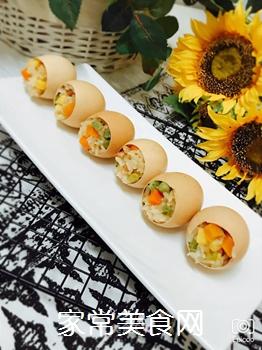 五彩糯米蛋的做法