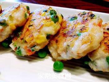 香煎鲜虾饼的做法步骤:3