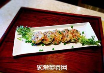 香煎鲜虾饼的做法步骤:4