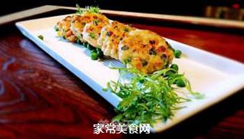 香煎鲜虾饼的做法步骤:5