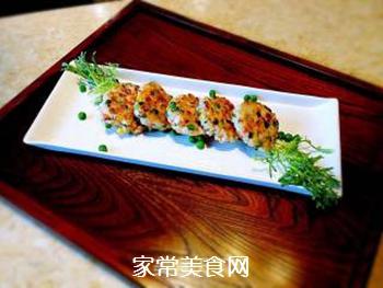 香煎鲜虾饼的做法步骤:6