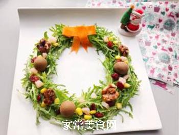 圣诞花环沙拉的做法步骤:9