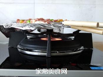 五彩蔬菜肉串的做法步骤:4