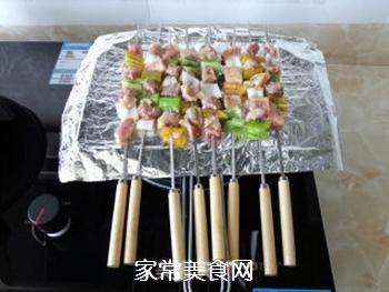 五彩蔬菜肉串的做法步骤:5