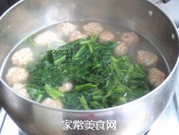 【天津】菠菜丸子汤的做法步骤:6