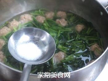 【天津】菠菜丸子汤的做法步骤:7