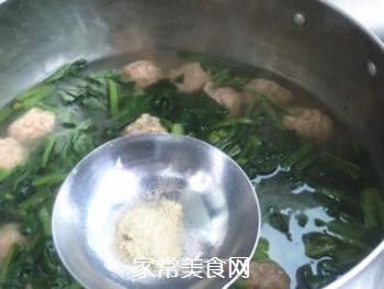 【天津】菠菜丸子汤的做法步骤:8