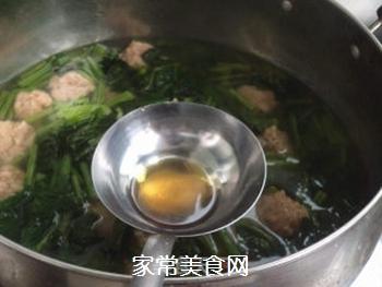 【天津】菠菜丸子汤的做法步骤:9