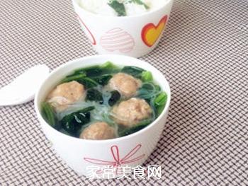 【天津】菠菜丸子汤的做法步骤:10