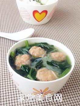 【天津】菠菜丸子汤的做法