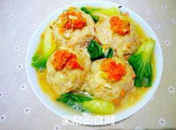 【扬州】蟹粉狮子头的做法步骤:16