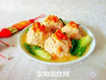 【扬州】蟹粉狮子头的做法步骤:17