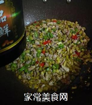 酸豇豆肉末的做法步骤:6