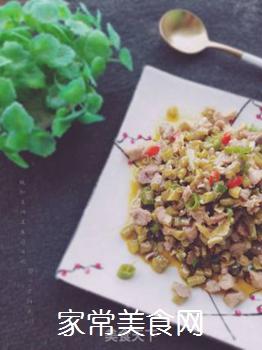 酸豇豆肉末的做法步骤:8