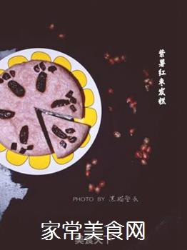 紫薯红枣发糕的做法步骤:7