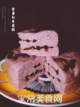 紫薯红枣发糕的做法步骤:8