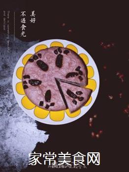 紫薯红枣发糕的做法步骤:9