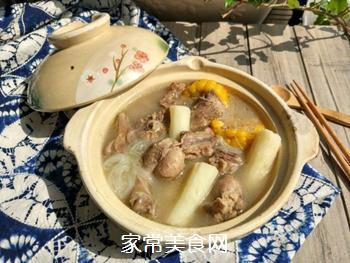 玉米山药粉丝鸭汤的做法