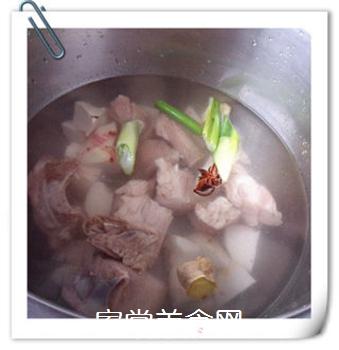 香芋排骨汤的做法步骤:5
