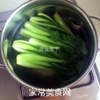 香菇油菜的做法步骤:2