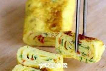 蔬菜鸡蛋卷的做法步骤:4