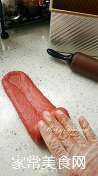 红吐司的做法步骤:7