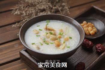瑶柱鸡丝粥的做法