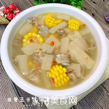 排骨玉米竹荪汤的做法