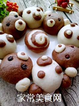 小熊豆沙包的做法步骤:16