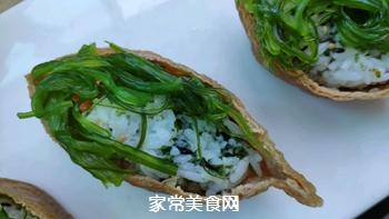 #爽口凉菜,开胃一夏!#鱼子酱小船寿司的做法图解7