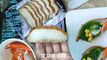 #爽口凉菜,开胃一夏!#鱼子酱小船寿司的做法图解10