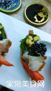 #爽口凉菜,开胃一夏!#鱼子酱小船寿司的做法图解12