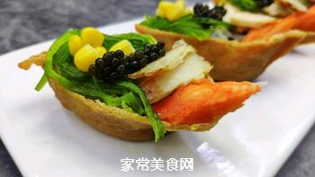 #爽口凉菜,开胃一夏!#鱼子酱小船寿司的做法图解13