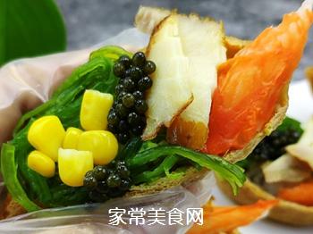 #爽口凉菜,开胃一夏!#鱼子酱小船寿司的做法图解14