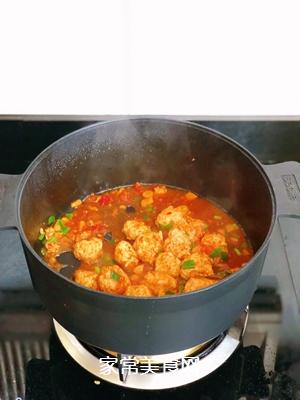 #爽口凉菜,开胃一夏!#番茄鸡肉丸的做法图解16