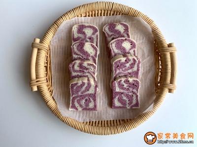 #520,美食撩动TA的心!#大理石花纹紫薯椰香发糕的做法图解14