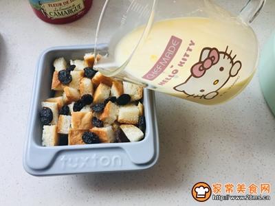 葡萄干面包布丁的做法图解4