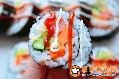 家庭版寿司的做法图解5