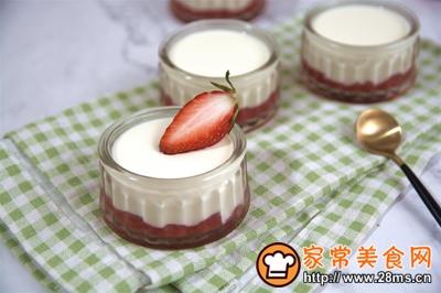 #童年不同样,美食有花样#草莓牛奶布丁的做法图解11