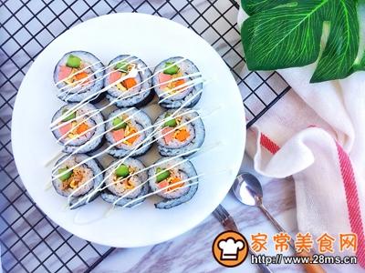 #童年不同样,美食有花样#金枪鱼寿司卷的做法图解13