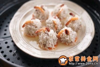 #童年不同样,美食有花样#吃了你就超可爱的珍珠鲜虾牛肉丸的做法图解7