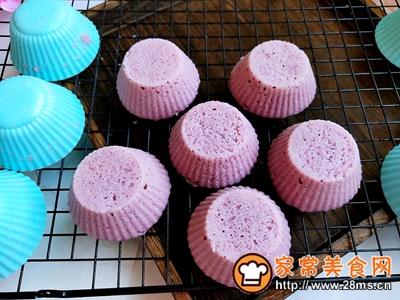 #童年不同样,美食有花样#紫薯米发糕的做法图解8