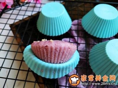 #童年不同样,美食有花样#紫薯米发糕的做法图解9