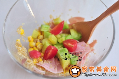 藜麦火腿水果沙拉的做法图解5