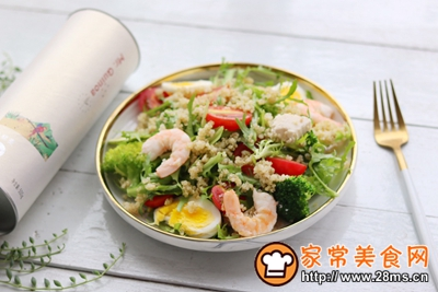 轻食主义-藜麦鸡肉蔬菜沙拉的做法图解10