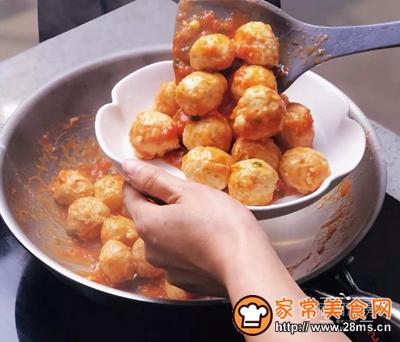 茄汁鸡肉丸的做法图解10