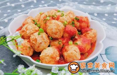 茄汁鸡肉丸的做法图解11