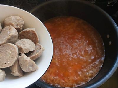 西红柿酸汤肉丸面#父亲节,给老爸做道菜#的做法图解12